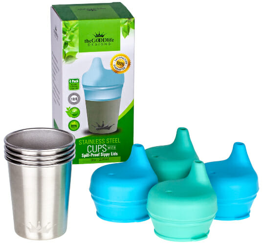 Stainless Steel Sippy Cup with Silicone Spout
