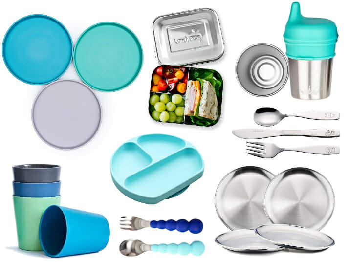 BPA-free-Children's-Dinnerware collage