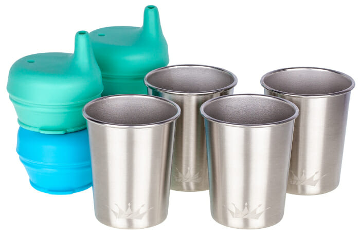 Stainless Steel Cups with Lids