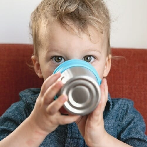 Baby-drinking-from-Non-plastic-Sippy-Cup