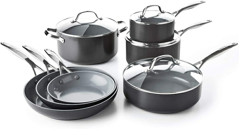 Ceramic-Coated Non-Toxic Pots and Pans