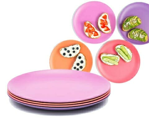 bamboo plates for adults and kids