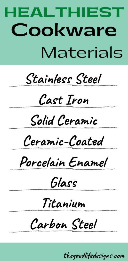 healthiest cookware materials