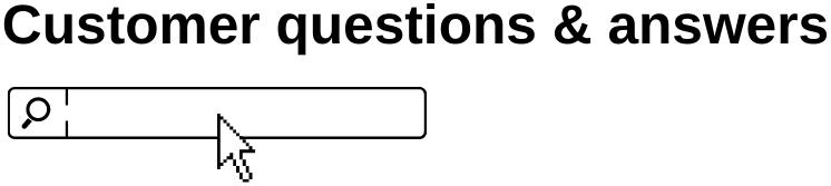 Amazon Q&A search box