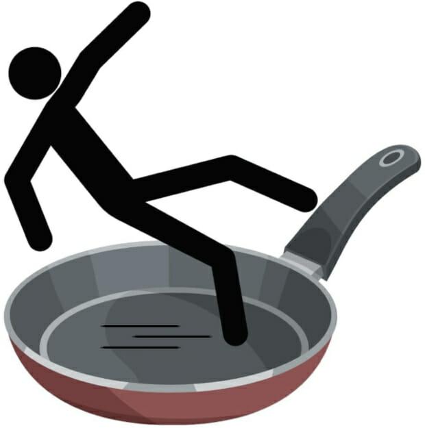 Stick-man-slipping-on-non-stick-ceramic-cookware