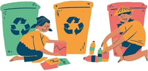separating trash properly graphic